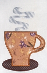 Coffee Cup Applique Single