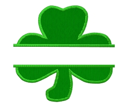 Split Shamrock Applique