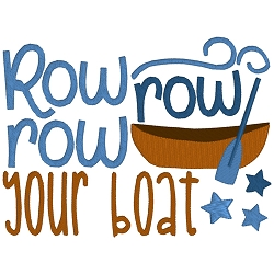 Row Row Your Boat Nursery Rhyme Single