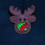 Reindeer Candy Pouch ITH