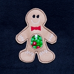 Gingerbread Candy Pouch ITH