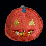 Jack O' Lantern Candy Pouch ITH