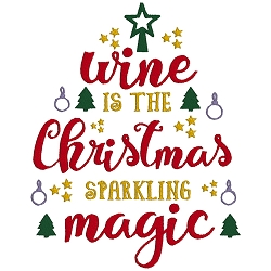 Wine is the Christmas Sparkling Magic