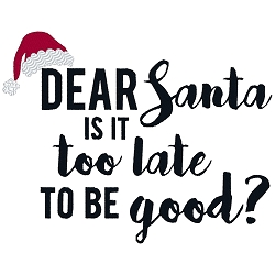 Dear Santa is it too late to be Good?
