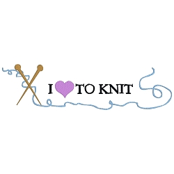 I Love to Knit Single