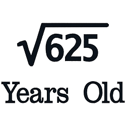 Square Root Birthday 25