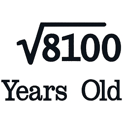 Square Root Birthday 90