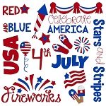 Independence Day Word Art